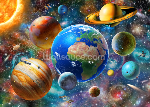 The Solar System Wallpaper Wall Murals