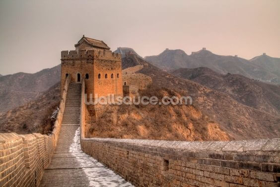 Great Wall of China Tower Wallpaper Wall Murals