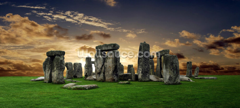Stonehenge Sunrise Wallpaper Wall Murals