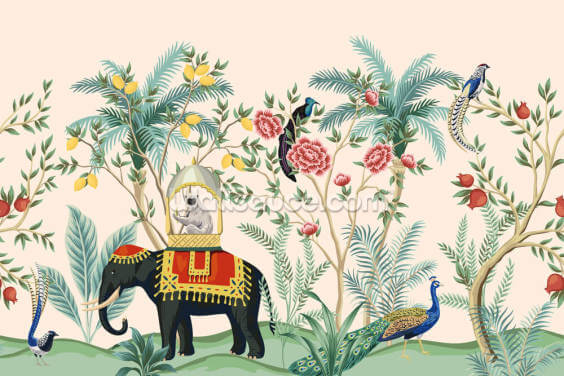 Eastern Chinoiserie Wallpaper Wall Murals