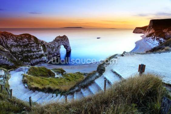 Durdle Door Sunset by Ollie Taylor Wallpaper Wall Murals