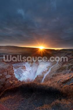 Gullfoss Falls Wallpaper Wall Murals