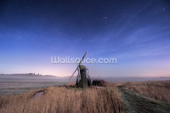 Herringfleet Mill Nightfall Wallpaper Wall Murals