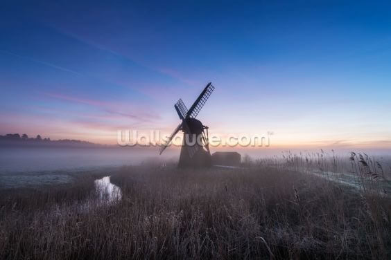 Herringfleet Mill Twilight Wallpaper Wall Murals