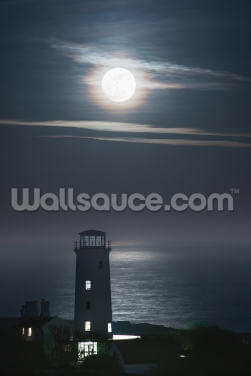 Old Lower Lighthouse Moonlight Wallpaper Wall Murals