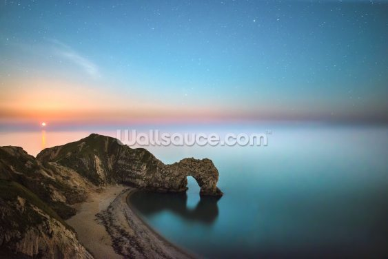 Red Moonrise Durdle Door Wallpaper Wall Murals