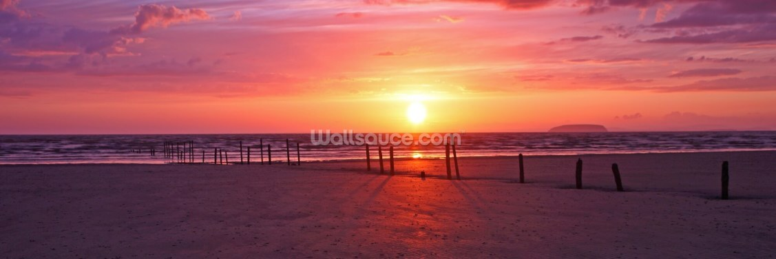 Somerset Sunset Wallpaper Wall Murals