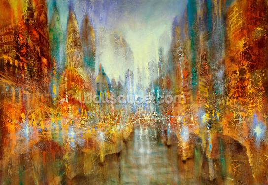 City of Lights Wallpaper Wall Murals