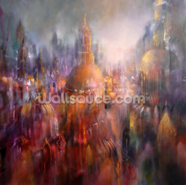 Evening in Cathedral City Wallpaper Wall Murals