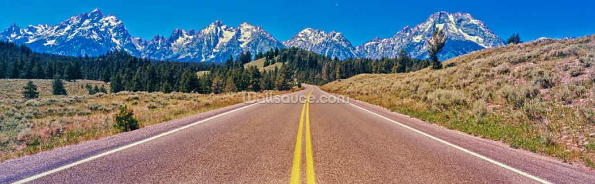 Road to Teton Range Wallpaper Wall Murals