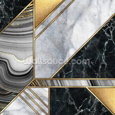 Gold and Grey Marble Wallpaper Wall Murals
