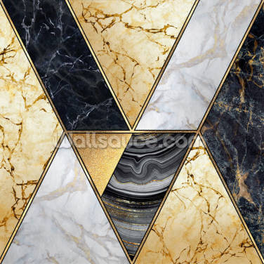 Gold and Marble Swirls Wallpaper Wall Murals