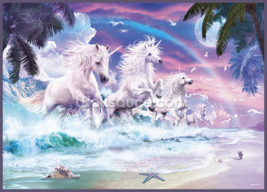 Unicorn Waves Wallpaper Wall Murals