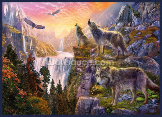 Wolf Sun Wallpaper Wall Murals