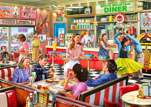 American Diner Wallpaper Wall Murals