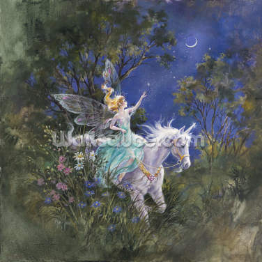 Riding by the Moon Wallpaper Wall Murals
