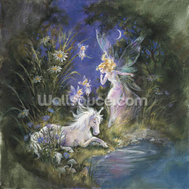 Sleeping Unicorn Wallpaper Wall Murals