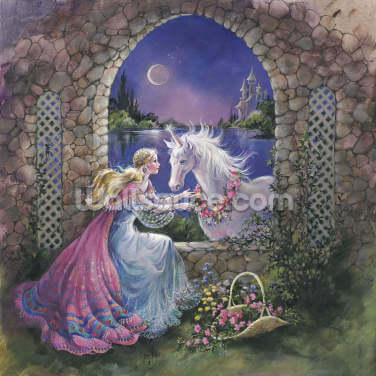 Unicorn by Moonlight Wallpaper Wall Murals