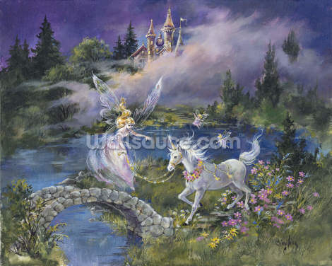 Walking the Unicorn Wallpaper Wall Murals