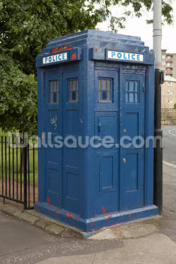 Tardis Police Box Wallpaper Wall Murals