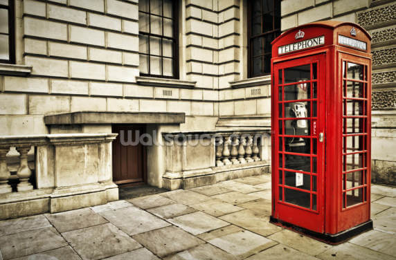 Telephone Box London Wallpaper Wall Murals