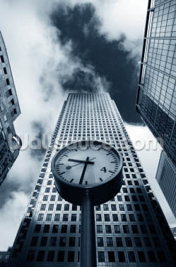 Canary Wharf Clock Wallpaper Wall Murals