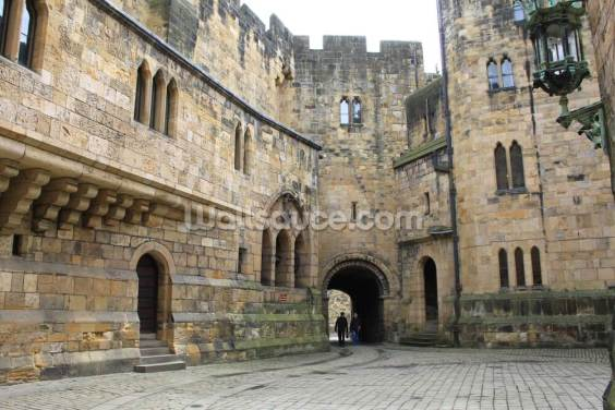 Alnwick Castle Courtyard Wallpaper Wall Murals