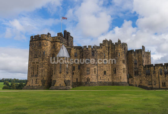 View of Alnwick Castle Wallpaper Wall Murals