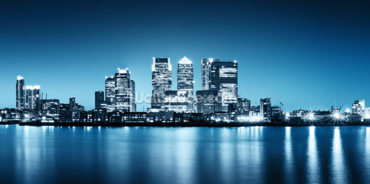 Canary Wharf from Greenwich Wallpaper Wall Murals
