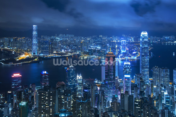 Hong Kong Victoria Harbour Wallpaper Wall Murals
