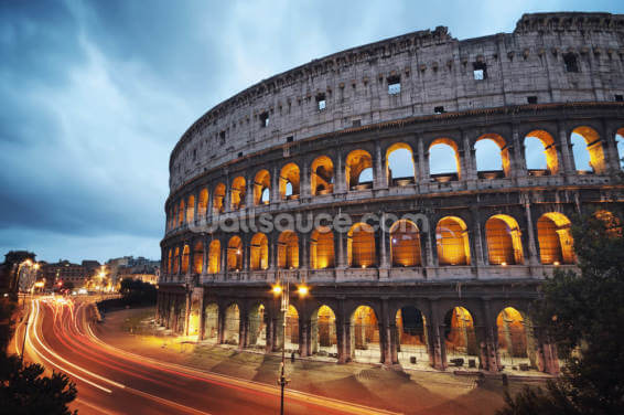 Colosseum at Night Wallpaper Wall Murals