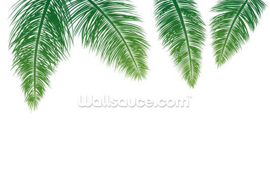 Green Ferns Wallpaper Wall Murals