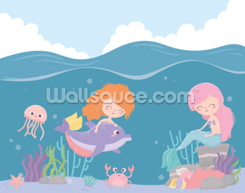 Mermaid Girls Wallpaper Wall Murals