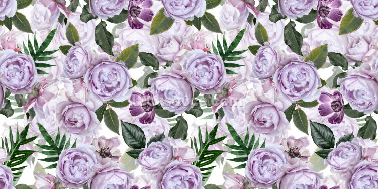 Pretty Purple Peonies Wallpaper Wall Murals