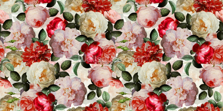 Tones of Red Peony Wallpaper Wall Murals