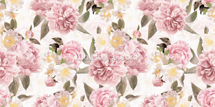 Vintage Peonies Wallpaper Wall Murals