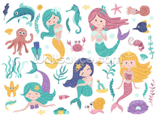 Mermaid Friendship Wallpaper Wall Murals