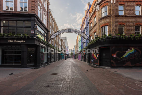 Carnaby Street in Lockdown Wallpaper Wall Murals