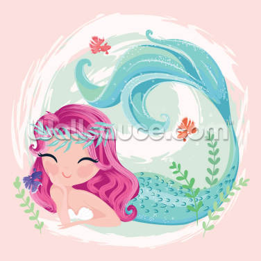 Mermaid Joy Wallpaper Wall Murals