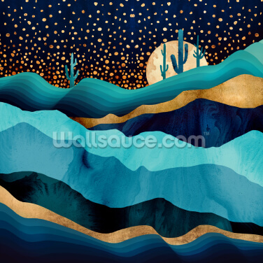 Indigo Desert at Night Wallpaper Wall Murals