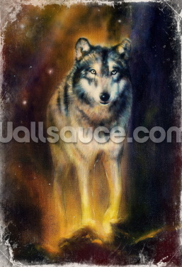 Wolf in the Night Wallpaper Wall Murals