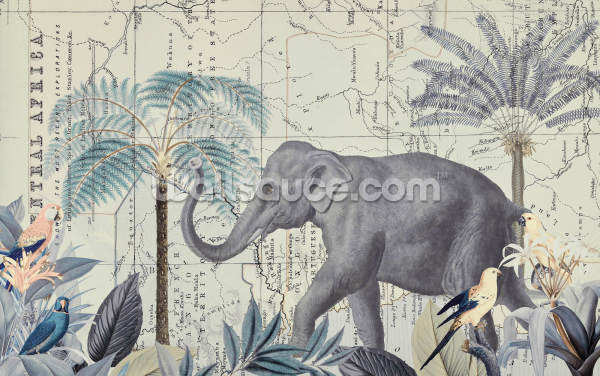 Exploring Africa Neutral Wallpaper Wall Murals