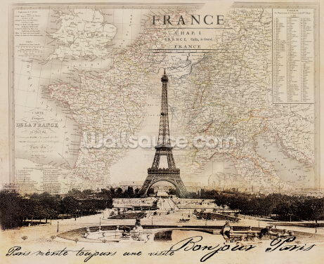 Bonjour Paris Wallpaper Wall Murals