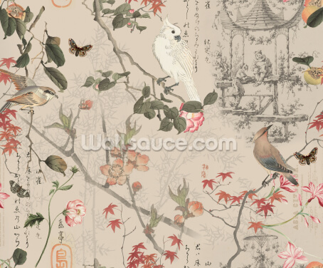 Chinese Chinoiserie Pattern Wallpaper Wall Murals