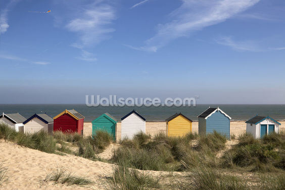 Southwold Beach Huts Wallpaper Wall Murals
