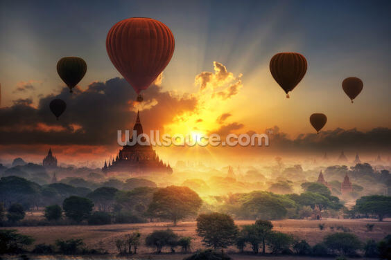 Bagan Air Balloons Wallpaper Wall Murals
