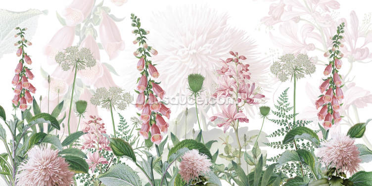 Foxglove Flowers Wallpaper Wall Murals