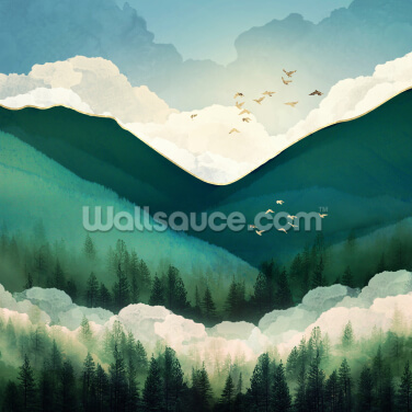 Emerald Hills Wallpaper Wall Murals