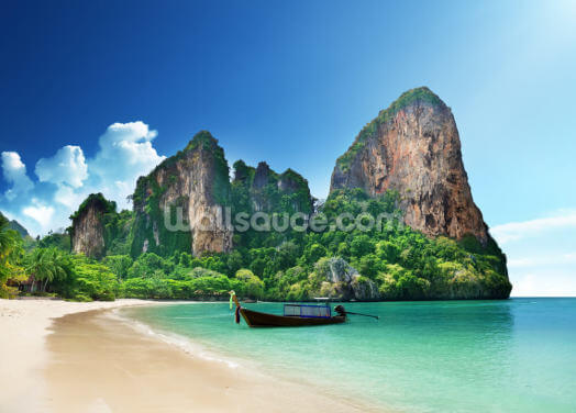 Beautiful Railay beach in Krabi Wallpaper Wall Murals