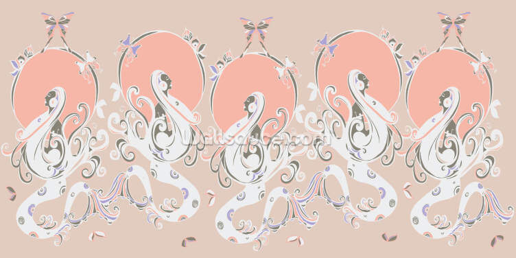 Mermaid Blush Wallpaper Wall Murals